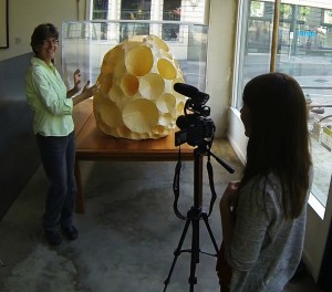 Filming a community art project