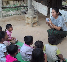 Visiting Cambodia? Download our freemultimedia flashcard package to help teach children to read!