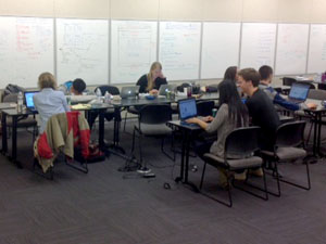 group at work